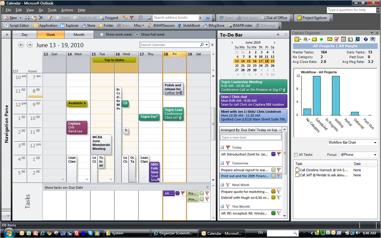 Outlook Calendar Organization : Organizer screenshots ceptara