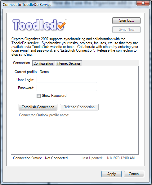 Check out the ToodleDo Connection
